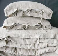 LINEN DUVET COVER set of duvet cover and pillowcases with ties.