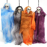 Haunted House Props Halloween Hanging Ghost  Human Skeleton Skull Doll