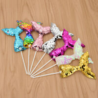 7pcs Colorful Mermaid Cake Topper Party Supplies Birthday Decor Children/Women