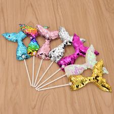 7pcs Colorful Mermaid Cake Topper Party Supplies Birthday Decor Children/Women