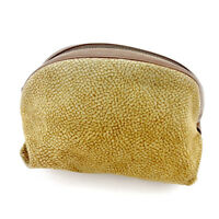 Borbonese Pouch Bag Beige Brown Woman unisex Authentic Used T4316