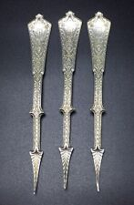 Tiffany & Co Antique Sterling Silver Set Of 3 Persian Pattern Nut Picks