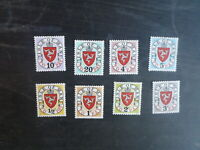 ISLE OF MAN 1973 POSTAGE DUE SET 8 MINT STAMPS
