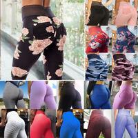 Women Scrunch Pocket Yoga Pants Anti Cellulite Push Up Sports Trousers Leggings