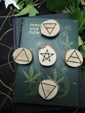 Cornish Holly Wood Elemental Altar Set - Quarter Markers Wicca, Witchcraft