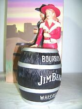 2013 IAJBBSC Jim Beam Convention Cowgirl Decanter Red & Black Barrel