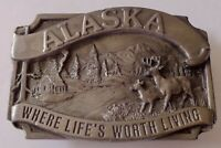 Belt Buckle ALASKA Where Life's Worth Living 1983