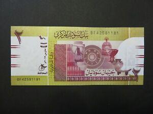 Afrika:  2 Pounds-Banknote, kassenfrisch (UNC), 2017