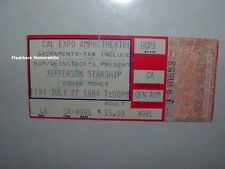 Jefferson Starship 1984 Concert Ticket Stub Sacramento Cal Expo Eddie Money Rare