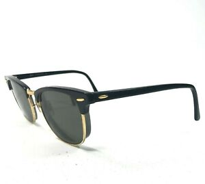 Ray-Ban RB3016 Clubmaster W0365 Sunglasses Glasses Frames Black Gold 125
