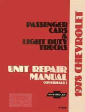 Chevrolet 1978 Shop Manual Overhaul Service Unit Repair Book