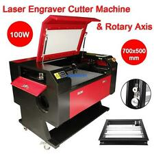 100w CO2 Laser Engraver Cutter Cutting Engraving Machine USB Port w/ Rotary Axis
