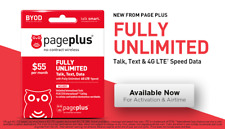 PAGEPLUS UNLIMITED PHONE TALK TEXT DATA CARD FREE 1ST MONTH $55 MONTHLY