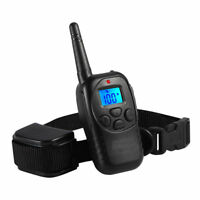 Dog Electric Training Collar Rechargeable Shock Collar  LCD Remote - it498