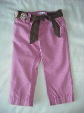 Old navy baby girls pink brown slim leg trousers 6-12 months stretch waist