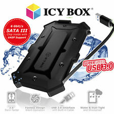 """ICY-BOX IB-276U3 wasserfestes externes Gehäuse f. 2,5"""" SATA SSD / HDD USB 3.0"""