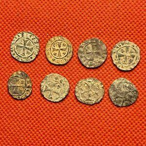 225 MEDIEVAL CRUSADES - VENETIAN & FRANKISH CRUSADER COINS - LOT OF 8 COINS