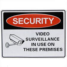 2x Warning Security Notice Sign Video Surveillanc Inuse 225x300mm Metal 16003010