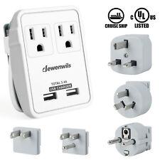DEWENWILS International Travel Adapter Kit Universal Power Plug Adapter HTA122A