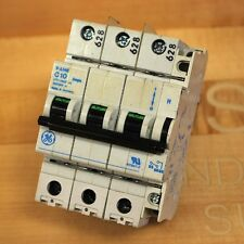 G.E. V07310 Circuit Breaker 480Vac, 10 Amp, 3 Pole with Auxillary Contact - Used