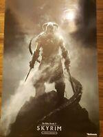 "Skyrim Elder Scrolls 5 Promo Poster Double Sided Size 33"" X 22"" Rare"