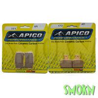 Apico Trials 325 Front 173 Rear Brake Pads Gas Gas TXT Pro 125-300 14-19 Braktec