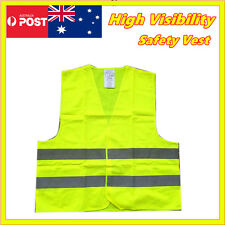 Safety Vest Yellow hi vis workwear Reflective Tape Work Jacket High Visibility