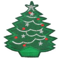 Christmas Tree Patch  Xmas Embroidered Iron Sew On Applique Badge Motif Santa