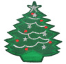 Christmas Tree Patch  Xmas Embroidered Iron Sew On Applique Badge Motif Santa