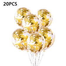 20pcs 12in Gold Confetti Balloons Wedding Latex Balloon Birthday Party Decoratio