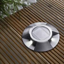 Solaire LED Lampe Inox pour Sol, à Encastrer Luminaire Rond Aluminium SEL08