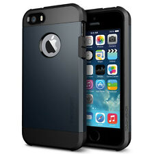 iPhone 5 5s SE Case Spigen Tough Armor Metal Slate Anti Scratch