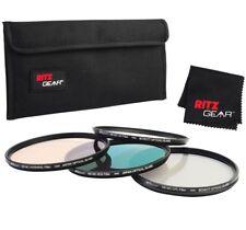 Ritz Gear 77mm Premium HD MC Super Slim Lens Filter Set (UV, CPL, ND9, Warming)