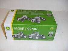 1/64 John Deere 8400R & 9570R 100th Ann Silver Ed Tractor Set NIB!