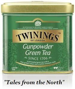 Twinings Gunpowder Green Leaf Green Tea, Iron Jar, 100 g (3.53 oz)