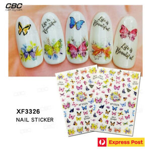 3D Butterfly Life is Beautiful Nail Art Decal Stickers Decoration Accessory 3326