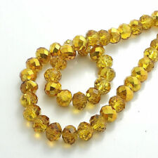 Plated Crystal Glass Rondelle Faceted Loose Spacer Beads lot 2mm3mm4mm6mm8mm10mm