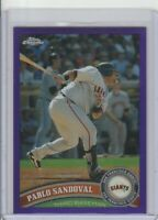 2011 TOPPS CHROME PURPLE REFRACTOR #/499 PABLO SANDOVAL #93 GIANTS BRAVES