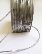 Stunning 1.5 MM Metallic Silver Tiny Cord / Rope/ Trim - 5 Yards (T847S)