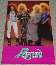 POISON Bret Michaels Look What The Cat Dragged In Poster 1987 Funky Hair Metal