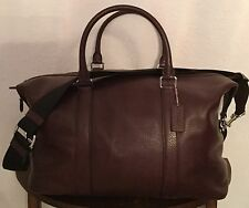 COACH Voyager Men's Pebble Leather Duffle Gym Travel Bag Oxblood  F93596 NWT