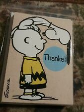 Peanuts Snoopy & Charlie B Thanks! Cards Hallmark Cards 10 Pack w/Envelopes New