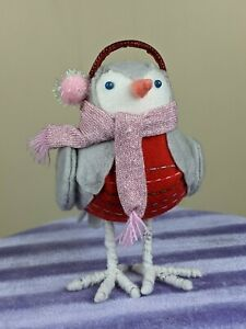 Target Birdz Featherly Friends Winter Grey and Red Earmuffs Scarf Blue Eye As Is