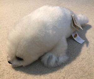 "Vintage Russ Yomiko Collection White Harbor Seal 14"" Plush Stuffed Toy Lovey"