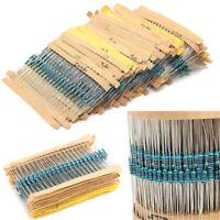 300PCS/Set 30 Values 1/4W 1% Metal Film Resistors Resistance Assortment Kit New