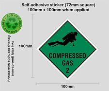 SCUBA diving compressed gas cylinder printed decal sticker #2 - PRNT1005