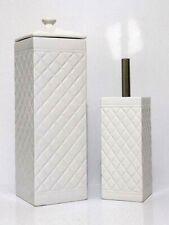 Ceramic Bathroom Accessory Set White Toilet Brush Toilet Paper Roll Holder New