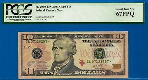 FR-2040-L* - 2004-A $10 FRN (( San Francisco - STAR )) PCGS 67PPQ #GL07128257*-