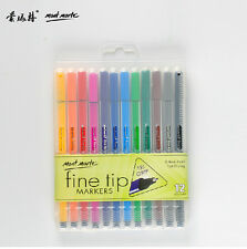 0.4 mm Point micro Fine Line Drawing Sketch pen  fine tip markers 12 Color set