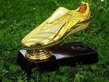 WM Goldener Schuh~Fußballschuh vergoldet~Fußball Torschützenkönig TROPHÄE~POKAL